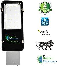 Bright Electronics Thin 24w LED Street Lights- IP65 Waterproof, White, 2 Year Warranty, Metal Body