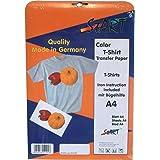 Start-Europe - 10 Blatt - DIN A4 Premium T-Shirt Folie für Tintenstrahldrucker, speziell für helle Stoffe