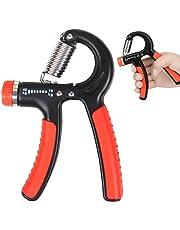 mQFIT Adjustable Hand Grip Strengthener Strength Trainer 10-40 KG for Men Forearm Grip Workout, Black