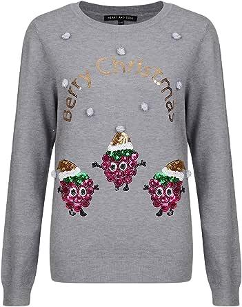 Noël Pour Femmes Pull Noël Elfe Nouveauté Santa Femmes Sequin Pull Tricot