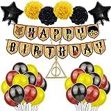 Artículos de Fiesta para Wizard Inspired, 38pcs Wizard Balloons Suministros Magical Wizard School Party Decoraciones,Estandar
