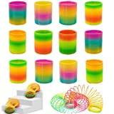 Jiada Colourful Rainbow Magic Spring Coil - Birthday Return Gifts (Pack of 12)