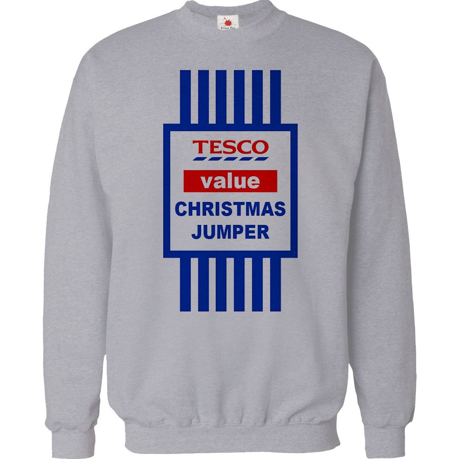 Christmas Tops.Christmas Jumper Sweater Mens Funny Tops Tesco Value Sweat Shirt Xmas Gift 2015 Unisex Top
