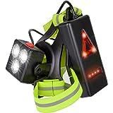 Luce da corsa ricaricabile USB a LED, lampada sportiva Lampada da torace 3 modalità Illuminazione 500 LM Per sport all'aria a