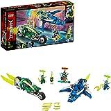 LEGO 71709 NINJAGO Jay en Lloyd's Supersnelle Racers Bouwset met Speelgoed Vliegtuig en Fietsspeeders, Prime Empire Racevoert