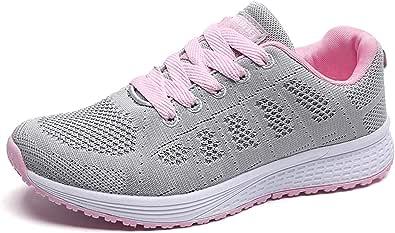 JIANKE Donna Scarpe da Ginnastica Uomo Sportive Sneaker Running Basse Outdoor Fitness