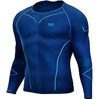 Souke Sports - Maglia a Manica Lunga Compression da Uomo, Maglia a Compressione Uomo, Asciugatura Rapida Maglia da Corsa…