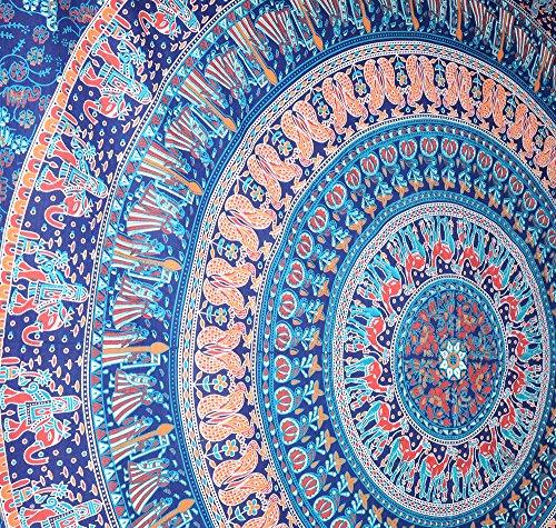 Rawyal-Kamel Motiv hippie-Motiv Elefanten mandala Wandbehang Gobelin home dec...