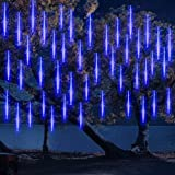 DINOWIN Meteoros Lluvia Luces,360LEDs Tubo de Luces Solar Luces Jardín Impermeable Guirnalda de Luzs,Cadena para Fiesta de Bo