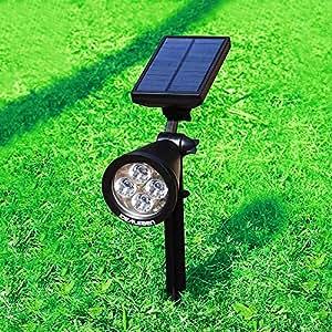 Idealeben 200 lumen lampe solaire jardin eclairage for Spot solaire 200 lumens