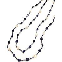 Laura Loison - Collana lunga per Donna con perle e pietre naturali