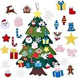 Majome Albero di Natale in Feltro, Decorazione dell'albero di Natale in Feltro Fai-da-Te Hook And Loop 3D Albero di Natale Tr