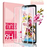 Youer Verre Trempé Galaxy S8 Couverture Complète, [2 Pièces] Compatible 3D Touch en Verre Trempé écran Protecteur Vitre, Ultra Résistant Dureté 9H, Anti Rayures Glass pour Galaxy S8 - Transparent