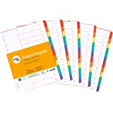 perfectline 5 pièces, 12intercalaires DIN-A4 couleur avec page de garde (5x12), 22,3 x 29,7 cm, séparateurs registre, 6col