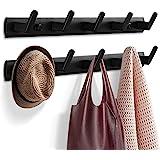 Garderobenhaken, Kleiderhaken für Wand und Tür, stabile Garderobenleiste Aluminium Hakenleiste, Wandgarderobe Handtuchhaken f