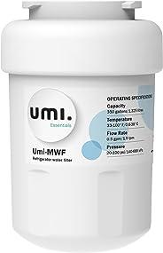 Umi. Essentials Filtro de agua del refrigerador, compatible con GE SmartWater MWF, MWFA, MWFP, GWF, GWFA, GWF01, 101057A, 101