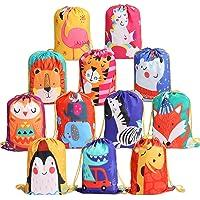 Zaino con Coulisse Bambini 12 Pezzi,Sportiva sacche Sacche da Palestra Drawstring Bag Sacchetto del per Bambini Festa di…