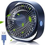SmartDevil Small Personal USB Desk Fan,3 Speeds Portable Desktop Table Cooling Fan Powered by USB,Strong Wind,Relatively Quie
