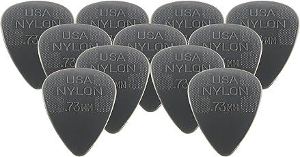 Dunlop 44P73 Nylon Standard Plektren, 0,73 mm, grau, 12 Stück
