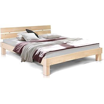 moebel eins pumba doppelbett aus massiver fichte hochwertige verarbeitung einfacher aufbau made in germany 160x200 cm natur