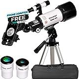 Teleskop För Astronomi - Bärbart Och Kraftfullt 16x-120x Reseskop - Lätt att Montera och Använda - Perfekt för Barn och Nybör
