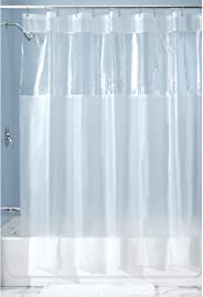 iDesign Hitchcock EVA Plastic Shower Liner Mold and Mildew Resistant for use Alone or With Fabric Curtain for Master, Guest,