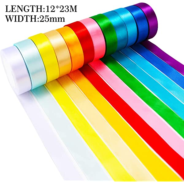 "Tan Satin Ribbon 25mm 1/"" Wide x 2 Metre Length Gift Wrap Craft Cake Beige"