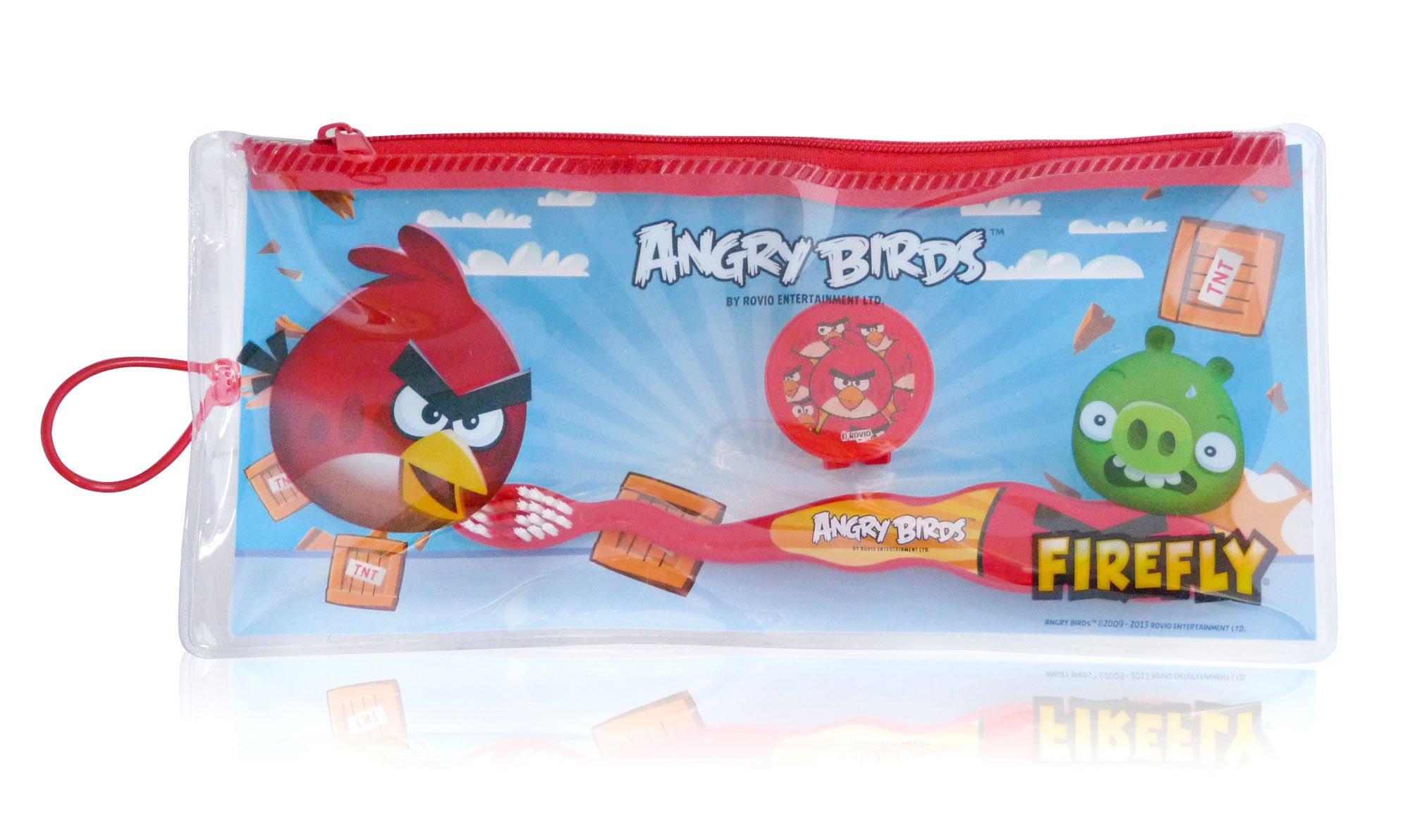 3 x de pájaros y KIT de los niños calabaza enfadado Awans diseño de medios de transporte de cepillos de dientes del estuche de cuero artificial de pulsera para niños * al azar en varios colores*