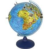 alldoro 68610 3D Lexi Globus Ø 32 cm mit Smartphone IQ Globe App, Leuchtglobus mit LED Lampe ohne Kabel, Kinderglobus mit Rel