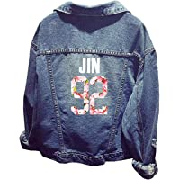 SERAPHY WOOKIT Unisex Felpa con Cappuccio Giacca di Jeans Suga Jin Jimin Jung Kook J-Hope Rap-Mostro V