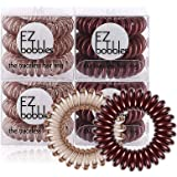 EZbobble 12pcs Elastici per Capelli, elastici per capelli a spirale per donne e ragazze elastici per capelli in plastica seri