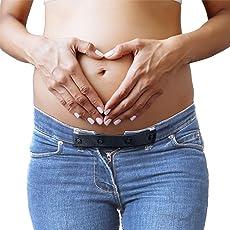 JANEYO® - 2X Bequeme Hosenerweiterung für Schwangere - Hosen länger nutzen - Qualitäts-Bauchband Hoseneinsatz