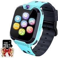 Smartwatch Kinder Telefon - Spiel Musik Kids Smart Watch [1 GB Micro SD Enthalten] mit Anruf Kamera Spiele Wecker Musik…