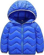 Echinodon Kinder Steppjacke Leicht Baby Übergangsjacke Jacke mit Kapzue Mädchen Jungen Winter Herbst