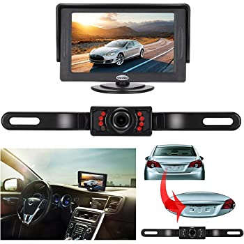 Car License Plate Rearview Infrared Reverse Backup Camera Hd Cmos Night Vision Excellent In Cushion Effect Car Video Vehicle Electronics & Gps