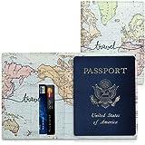 kwmobile Porta passaporto in pelle sintetica - Scomparti carte foderina per passaporto in similpelle - Custodia porta documen