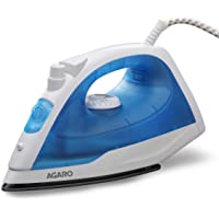 AGARO Edge Steam Iron 1200W with Non-Stick Sole Plate, Variable Steam Control & Spray/Steam/Dry Function (Blue)