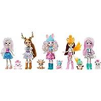 Enchantimals La Vallée Enneigée Coffret 5 mini-poupées Pristina, Rainey, Bevy, Felicity, Sybill et leurs figurines…