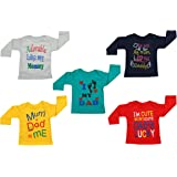 Fareto Baby Boy's & Baby Girl's T-Shirts | T-Shirt | Tees(Pack of 5)