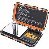 Criacr Báscula Digital de Bolsillo, (200 x 0.01g) Báscula Digitales de Precisión con Peso de Calibración de 50g, Retroilumina