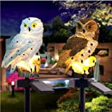 Garden Ornaments Outdoor Owl Shape Light LED Solar Garden Light Owl Lawn Lamp Waterproof Solar Led Lights Outdoor Yard Garden
