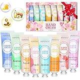 Crema Mani Set, 8 Pcs Crema per le Mani Riparatrice Intensiva, Texture Leggera, Non Unge, Portatile Nutriente Idratanti, Mani