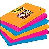 Post-it Super Sticky Notes 6556SE – Selbstklebende Haftnotizzettel in 76 x 127 mm – 6 Notizblöcke rechteckig à 90 Blatt in 3 Farben