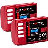 2X Baxxtar Pro-batteri för Panasonic DMW BLF19 E med informationschip - För Panasonic Lumix DC G9 GH5 GH5s DMC GH3 GH4 GH4R -