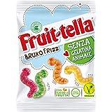 Fruittella Bruko Frizz Caramelle Gommose Frizzanti, Gusto Frutti Assortiti con Succo di Frutta, Vegan senza Gelatina Animale