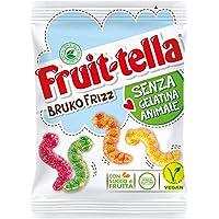 Fruittella Bruko Frizz Caramelle Gommose Frizzanti, Gusto Frutti Assortiti con Succo di Frutta, Vegan senza Gelatina Animale e senza Glutine, Formato Busta da 150 G