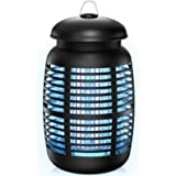 Lomoo Moustique Tueur Lampe & Moustique Attractif 15W UV Lampe Anti Moustique, 4200V Electrique Moustique Killer Lampe, Effic