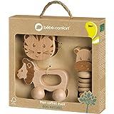 Bébé Confort Coffret cadeau jouets d'éveil en bois FSC pour bébé : Jouet à rouler + Hochet bébé grelot + Hochet gling-gling