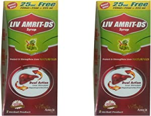 LIV AMRIT DS (PACK OF 2) EACH OF 225 ML (A AYURVEDIC LIVER TONIC)