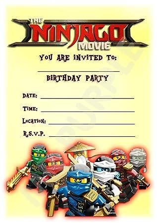 Der Lego NINJAGO Film Geburtstag Party Lädt U2013 Hochformat Lego Design Party  Deko/Zubehör (12 Stück A5 Einladungen) WITH Envelopes: Amazon.de:  Bürobedarf U0026 ...